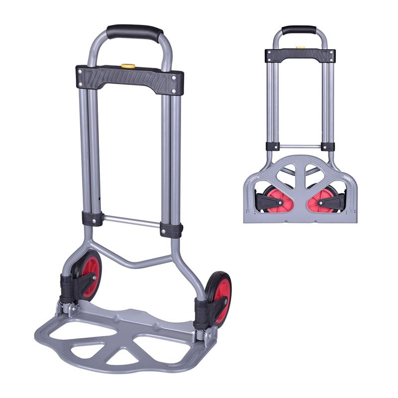 130 lb Capacity Portable Folding Hand Truck Luggage Cart